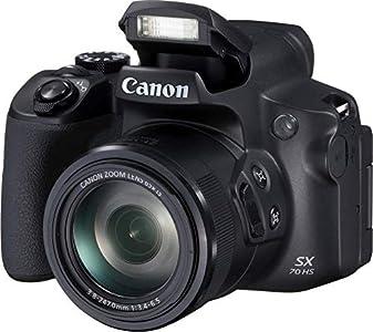 Canon PowerShot SX70 HS - Cámara Bridge de 20.3 MP (Zoom óptico de 65x, DIGIC 8, 10 fps, Vídeo 4K, LCD, ángulo Variable) Negro