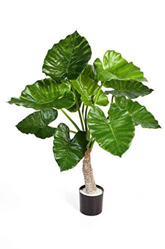 PARC Network - Alocasia Calidora Kunstpflanze, grün, 80cm - Kunst Alokasie - Pfeilblatt Künstlich - Elefantenohr Deko Pflanze - Künstliche Pflanze