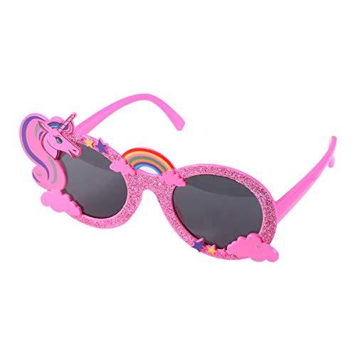 Amosfun Einhorn Sonnenbrille mit Pailletten Beach Party Brille Selfie Requisiten Eyewear Party Favors