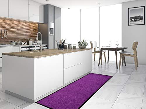 Primaflor - Ideen in Textil Küchenläufer Küchenvorleger Schmutzfangmatte CLEAN - Lila, 60x180 cm, Küchenteppich Schmutzfangläufer