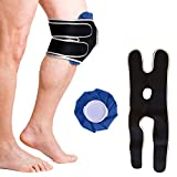 Doctor Developed Knee Ice Pack/Hot & Cold Pack with Wrap/Support Brace to Hold