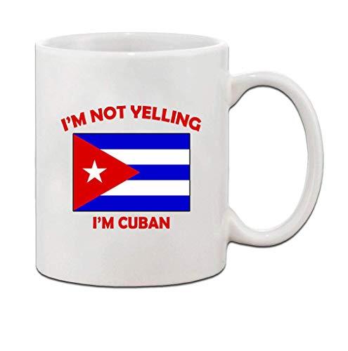 N\A Weiße Kaffeetasse, Teetasse Ich Bin Nicht Yelling, ich Bin kubanischen Kuba Kubaner-Becher-Schale 11 Oz für Kaffee-Milch-Bier-Tee