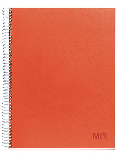Miquelrius Cardboard Spiral Bound Notebook, Candy Colors, Tangerine (6.5 x 8, 1-Subject, College Ruled)