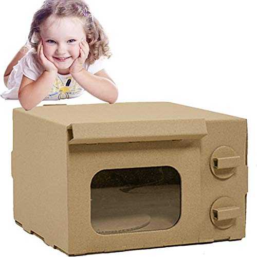 DIY Graffiti Pappe Playhouse 3D-Modell Karton Pretend Play Toy Papphäuser Für Kinder Zu Farbe (mikrowelle)