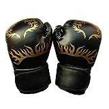 Estilo Fresco Tres Colores Guantes Gruesos Opcional Bolsa Guantes De Boxeo Kickboxing Muay Thai Entrenamiento De Boxeo (Color : Black, Size : 14 oz)