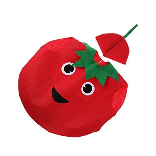 Nios Traje Disfraz Vegetal Vestido Divertido Tela No Tejida Ropa de Tomate para Nios Halloween Cumpleaos