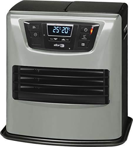 Zibro Lc 400 Stufa a Combustibile Elettronica, portatile, 4000 W, Argento/Nero, da 26m2-70m2, senza installazione, termostato regolazione settimanale (Ricondizionato)