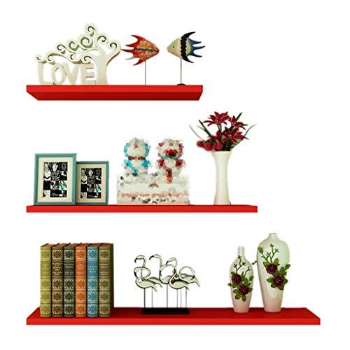 Wall shelf Floating Shelf wandplank, set van 3 verschillende maten, houten zwemrek 60 50 40 cm, witte houten planken, boekenrek voor keuken, slaapkamer, woonkamer, decoratieve hangende rekken S A
