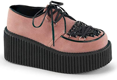Demonia CREEPER-216 B. Pink Vegan Suede UK 4 (EU 37)