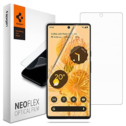 Spigen NeoFlex Protection écran compatible avec Google Pixel 6 Pro, 2 Pièces, Résistant aux Rayures, TPU Film, Liquid Installation, Film Protection écran