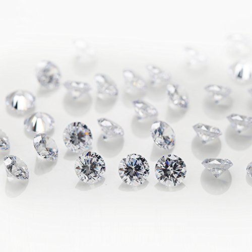 ZBJGEMS 1000pcs CZ White Color AAAAA Brilliant Cut Round Loose 1mm Cubic...