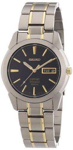 Seiko Titan Herren-Uhr Titan mit Metallband SGG735P1