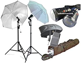 CowboyStudio Photography Flash Strobe Studio Light Kit with Stands, Umbrellas, Wireless Trigger, Receiver and Carrying Case