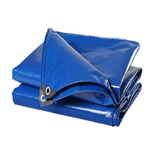 WTT dekzeilluifel, sterk waterdicht dekzeil vloerbedekkingen voor kamperen, vissen, tuinieren en huisdieren (kleur: blauw, maat: 6mx8m (20ftx26,8ft))