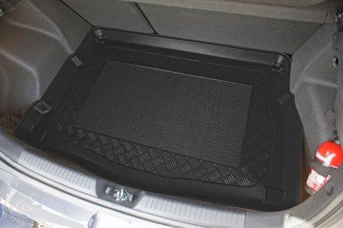 Kofferraumwanne mit Anti-Rutsch passend für Kia Ceed II HB/3/5 05/2012- erhoehte Ladeflaeche (mit Staufach unter dem Kofferraumboden Hyundai: Modelle PREMIUM und STYLE Kia: Modelle L und XL)