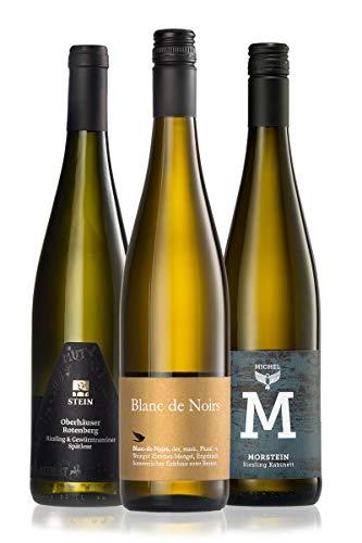 GEILE WEINE Weinpaket FEINHERB (3 x 0,75l) Probierpaket halbtrockene Weißweine aus Deutschland