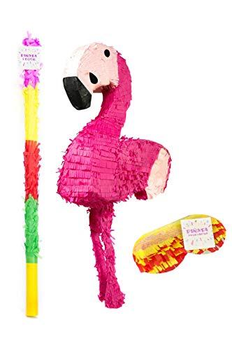 Trendario Flamingo Pinata Set - 78 x 39 cm groß in Rosa / Pink - ungefüllt - Ideal zum Befüllen mit Süßigkeiten und Geschenken - Piñata für Kinder Geburtstag Spiel, Geschenkidee, Party, Hochzeit
