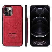 """MOONCASEケースiPhone 11 Pro Max, カードホルダー付きウルトラスリムPUレザーウォレットケーススロットフォン保護バックケースカバー iPhone 11 Pro Max 6.5"""" - 赤"""