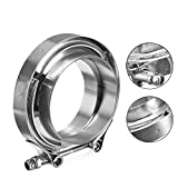 WYKA 3.5 Inch Stainless Steel-304 V-Band Clamp Flange Kit for 89mm OD Tubing
