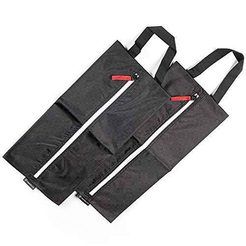 TRAVELTO Set da 2 borse per scarpe in nylon leggero e resistente con cerniera lampo, ideali per viaggiare - Shoe bag/Boot bag/Sacchetti organizer
