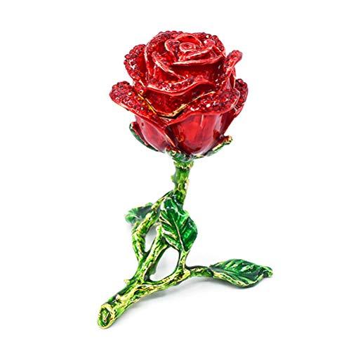 Ahagut Ring Box Rose Blume Verlobungsring Box Klappbare Schmuckschatulle Valentinstag Geschenkbox Hochzeit
