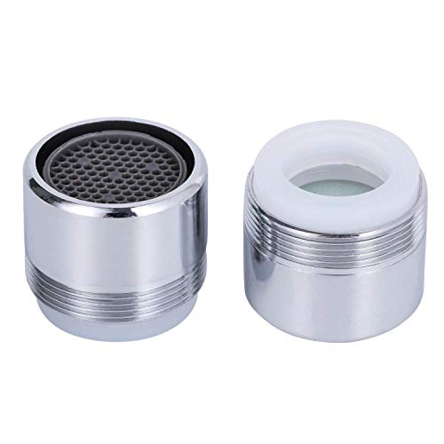 2 Pack 2.2 GPM Sink Faucet Aerator, Male and Female Dual Thread Aerator, Regular/Standard Size, Chrome by NIDAYE
