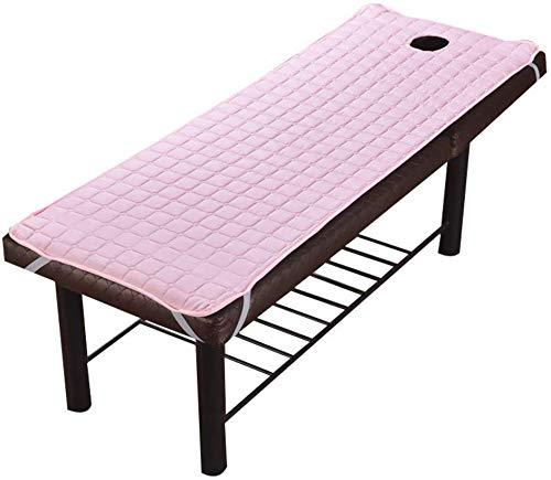 FF Beauty anti-slip matrashoes, gewatteerde beschermende vulling met elastische band Bedlaken voor massage bed met gezicht adem Gatrood-b 190x70cm (75x28inch)