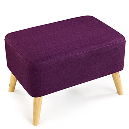 Yxsd Taburete para zapatos, sofá pequeño, de madera maciza, pie enano, zapatos de tela europeos, taburete de cama larga, taburete simple de mesa de café (color: C)