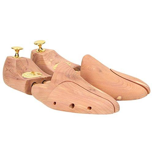 Zweigut ZWEIGUT® -Hamburg- Schuhspanner blitzblank #950 Zedernholz Premium Schuhpflege für Business und Leder Schuhe, Schuhgröße:47/48, Farbe:messing