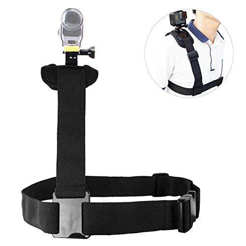 Vbestlife Borstband met één schouder, borstband, schouderriem, borstband, borstband, riemhouder met dubbele pin-interface voor GoPRO-serie, SJ 4000 en andere sportcamera's