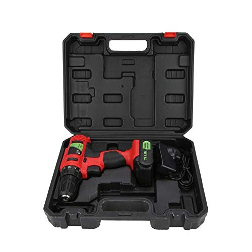 W-SHTAO Hardware Storage Box Electric Rechargeable Cordless Drill Screwdriver Industrial Handheld Tool 12V (GB), 12V Electric Rechargeable Cordless Drill Screwdriver Industrial Handheld Tool UK Plug 1
