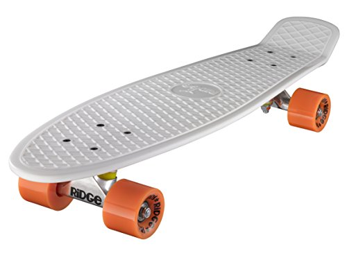 Ridge Skateboard Big Brother Nickel 69 cm Mini Cruiser, weiß/orange