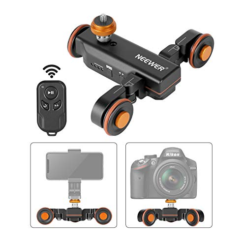 Neewer 3-Wheels Wirelesss Camera Video Auto Dolly,Motorized Electric Track Rail...