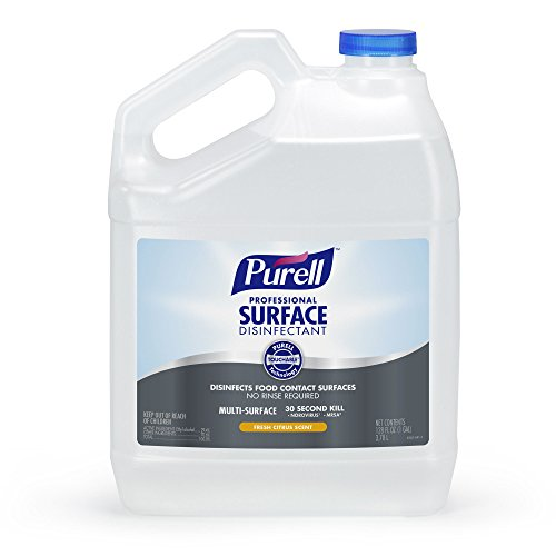 PURELL Professional Surface Disinfectant Spray, Fresh Citrus Scent, 1 Pour Gallon Disinfectant Spray (Pack of 4) - 4342-04