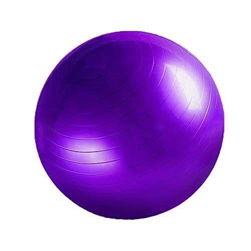 YHD Pelota De Gimnasia |, Pelota De Yoga Y Pilates Y Pelota De Ejercicio para Sentarse, Pelota De Ejercicio Físico | 500 Kg | Bomba Inflable, Enchufe Inflable Y Tirador Inflable (púrpura)
