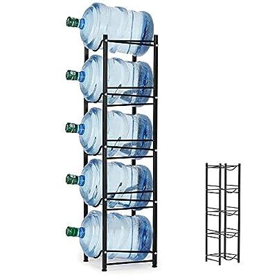 5-tier water bottle rack by