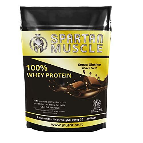 Jnutrition Spartan Muscle, 100% Whey Proteina de suero de leche en polvo, SIN GLUTEN, batidos de proteina, proteina para aumentar masa muscular (producido en europa)