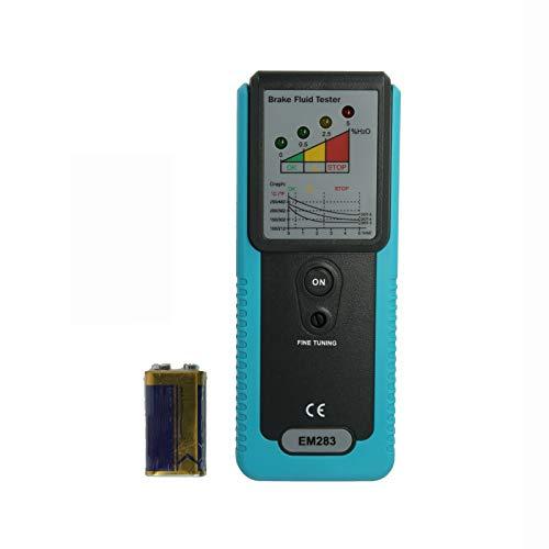 VISLONE Probador de líquido de Frenos automotriz Detección de Humedad de Aceite y Agua con Pantalla de indicador LED de sonda de Alta precisión, DOT3 DOT4 DOT5 Detector de líquido de Frenos