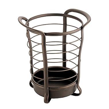 InterDesign Axis Utensil, Spatula, Silverware Holder for Kitchen Countertop Storage - Bronze