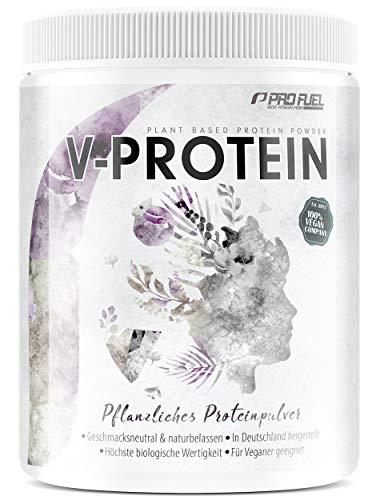 Vegan Protein - V-PROTEIN - Naturbelassenes Protein vielseitig einsetzbar zum Backen und Kochen – 600 g Erbsenprotein GESCHMACKSNEUTRAL