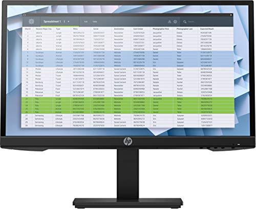 HP P22h - Monitor Profesional de 21.5' FullHD (1920x1080, IPS LED, 16:9, 1 x VGA, 1 x DisplayPort 1.2, 1 x HDMI 1.4, 60 Hz, Antireflejo, Low Blue light, Ajustable), Negro