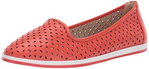 Aerosoles Women's Stay Smart Ballet Flat, Orange Leather, 8 M US
