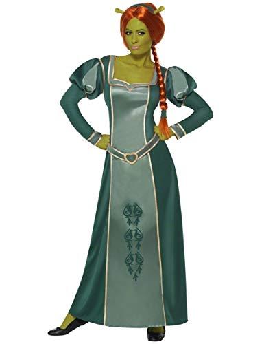 KULTFAKTOR GmbH Shrek Fiona Comic Damenkostüm Lizenzware grün L