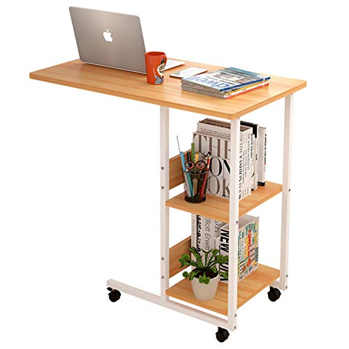 PeiQiH Modern Simple Laptop Desk,Adjustable Mobile Bed Table,Computer Desk for Home Hospital Laptop and Breakfast Workstation Study-d 80x40x76cm(31x16x30inch)