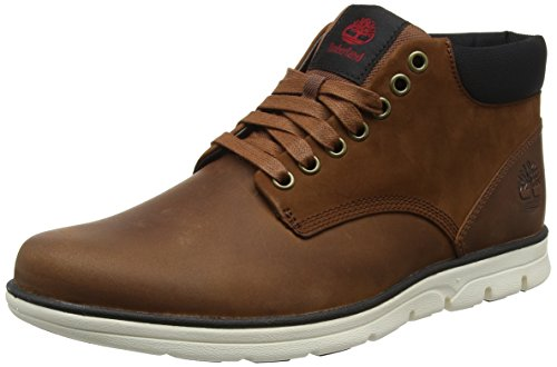 Timberland Bradstreet Leather Sensorflex, Stivali Chukka Uomo, Marrone (Red Brown Fg 214), 45 EU