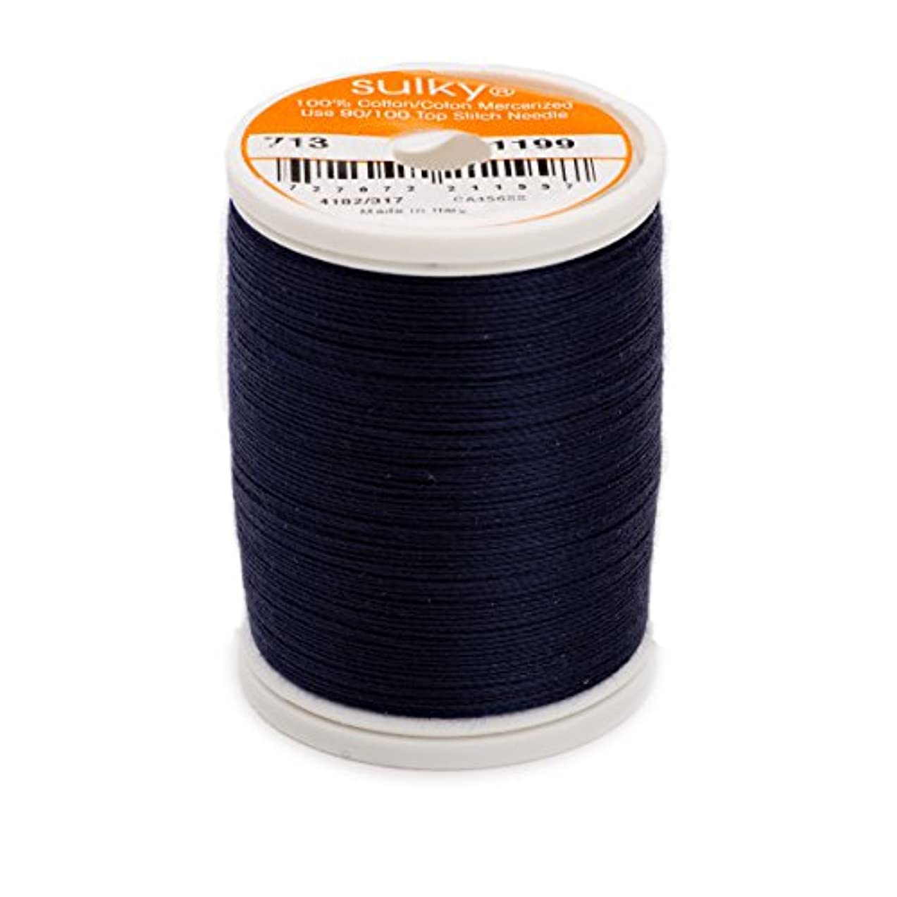 Sulky Of America 660d 12wt 2-Ply Cotton Thread, 330 yd, Admiral Navy Blue