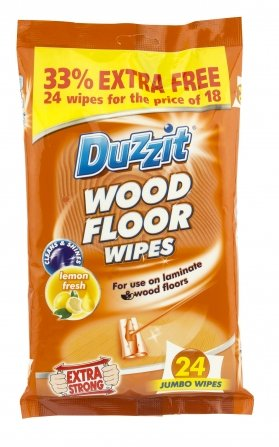 WOOD FLOOR WIPES X 18 EXTRA LARGE WIPES