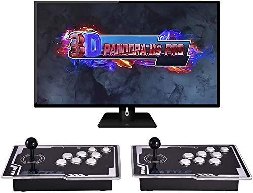 OneV FT 3399 juegos en 1: consola de juegos Arcade Pandora Box 3D 11S Full HD Retro Video Arcade Consola de juegos 2 jugadores con dos joysticks separados 3D Pandora Box para PC/portátil/TV/PS3.