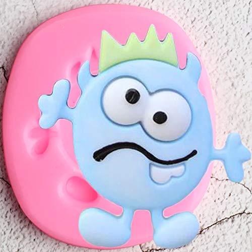 ZHQJY Halloween Kuchen Dekorationswerkzeuge Monster Silikonformen DIY Cookie Backen Cupcake Topper Fondant Candy Schokoladenformen