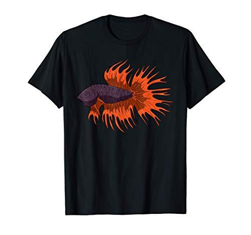 Acuario de pez luchador siamés Betta Splendens Camiseta